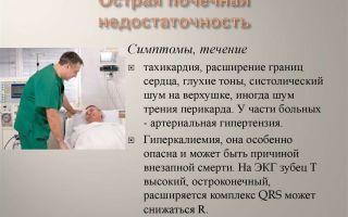 Симптомы почечной недостаточности у мужчин