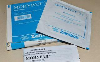 Монурал для лечения цистита — инструкция, отзывы