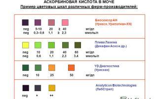 Аскорбиновая кислота в моче: причины высокого и низкого уровня витамина