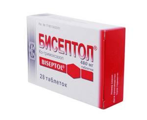 Таблетки Бисептол при цистите