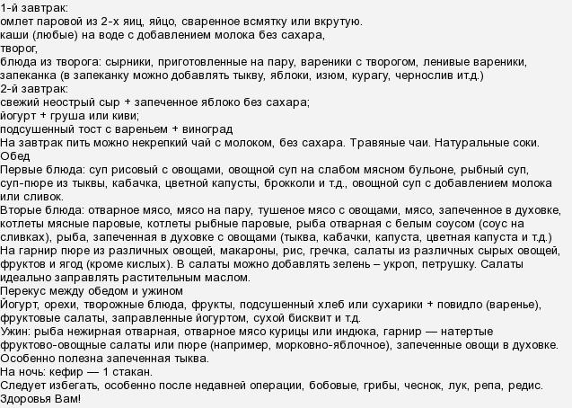 Послеоперационный Период По Удалению Желчного Пузыря Диета.
