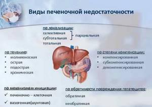 Печеночная недостаточность: характерные симптомы, причины и лечение
